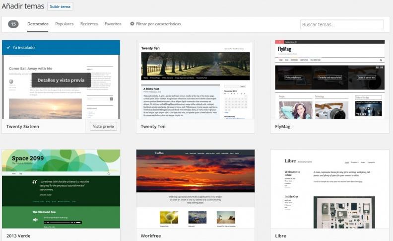 Cómo instalar un nuevo tema en WordPress - Doc - BlueHosting