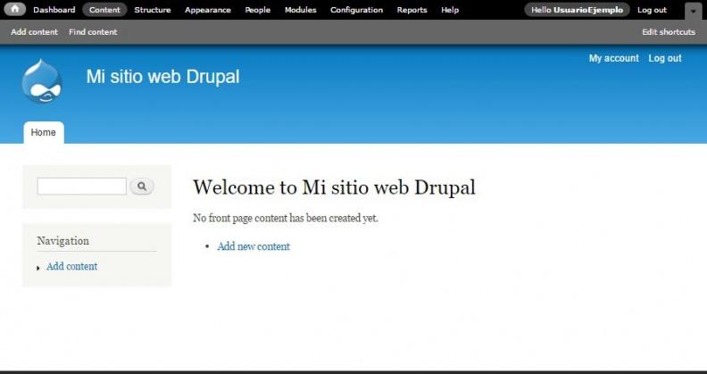 Anexo 5 Portal administrador Drupal