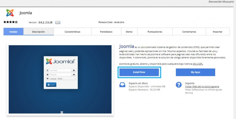 Anexo 2 Instalar Joomla