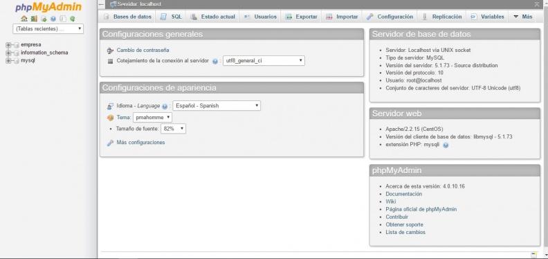 Anexo 1 GUI de phpMyAdmin