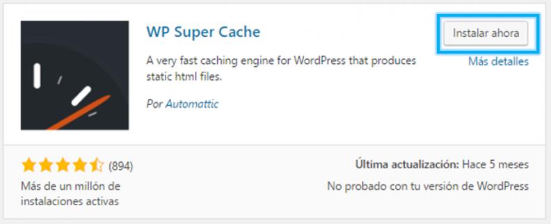 Anexo 4 Instalar WP Super Cache
