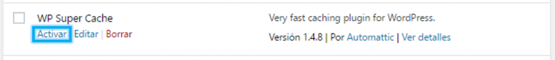 Anexo 6 Activar desde plugins instalados