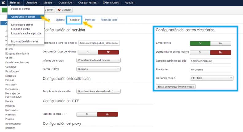 Anexo 1 Configuración del correo electrónico